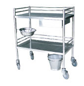 S. S Medical Trolley with 2 Shelves (SC-HF33) pictures & photos
