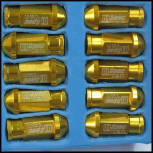 D1 Spec 7075 Aluminum Golden Racing Car Wheel Lock Nuts.