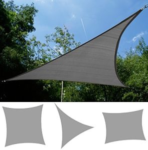 HDPE Garden Sun Shade Sail, Canopy, Awning, 8 Years Warranty, 98% UV Protection, Dark Grey Color (Manufacturer)