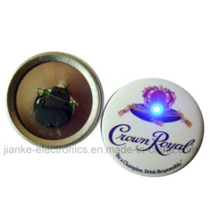 Custom Flashing Light up LED Pins with Logo Printed (3569)