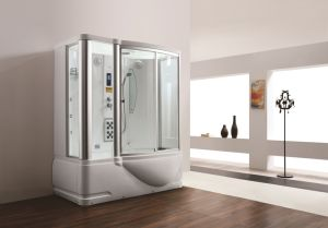 Monalisa Luxury Double Massage Tub Shower Room Steam Sauna (M-8250) pictures & photos