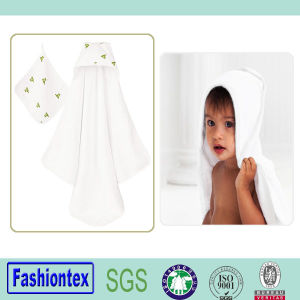 100% Cotton Baby Muslin Hooded Poncho Towels Kids Bath Hooded Towel pictures & photos