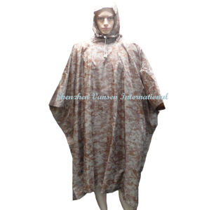Military Digital Desert Camouflage Rain Poncho pictures & photos