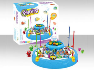 Battery Operated Fishing Game Toys with Light and Music (H9592005) pictures & photos