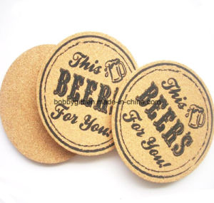 Antislip Cork Cup Coaster with Custom Printing pictures & photos