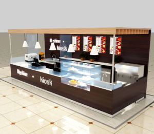 Myshine Customize Retail Coffee Shop Kiosk Cafe Bar Counter Design