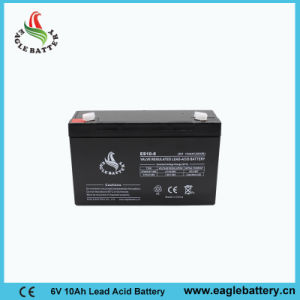 6V 10ah AGM Rechargeable Lead Acid Battery for Light