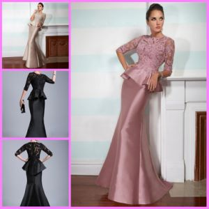 Mermaid Party Prom Formal Gown 3/4 Sleeves Evening Dresses Y1023 pictures & photos