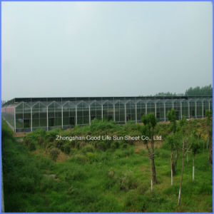 PVC/ Metal/ Composite Polymer/FRP/PE/ Porcelain/Ceramic Transparent PC Sheet for Greenhouse pictures & photos
