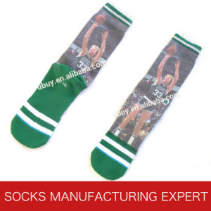 Men′s Printed Basketball Sport Sock pictures & photos