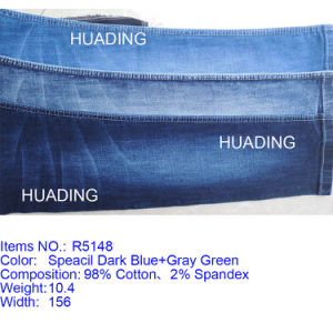 Cotton Spandex Washed Denim Fabric for Jeans (R5148) pictures & photos