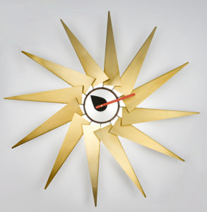 Copper Leaf Sunshine Art Wall Trubine Clock pictures & photos