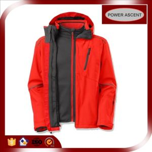 OEM Stretch-Fabric Windbreaker Waterproof Outdoor Sports 3-in-1 Jacket pictures & photos