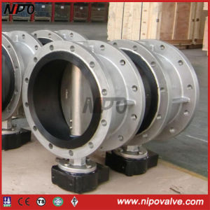 Flanged Center Line Type Rubber Lining Butterfly Valve pictures & photos