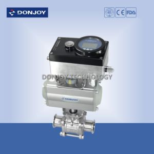 Horizontal Pneumatic Actuator Pneumatic 3PCS Ball Valve pictures & photos