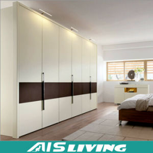 Double Color Wardrobe Closet Design Furniture Bedroom (AIS W028)
