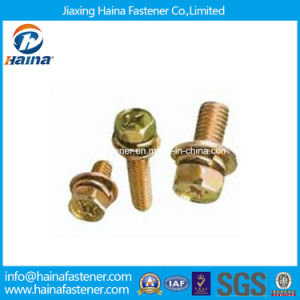 Yellow Zinc Plated Sems Screw Fastener pictures & photos