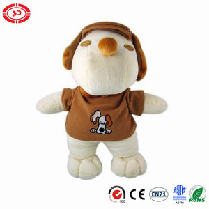 Standing White Snoopy Stuffed Soft Dog Wear Coat Toy
