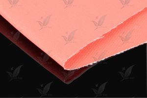 Silicone Rubber Coated Fiberglass Fabric Red Colour pictures & photos