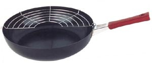 High-size Glaze Fry Pan With Meshwork