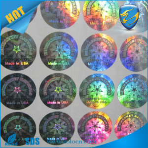 image relating to Printable Round Labels named Hologram Circle Labels/Holographic Spherical Silver Sticker with Personalized Print