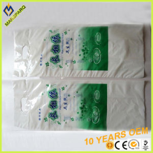 Good Print Patch Handle PE Tissue Poly Packaging Bag