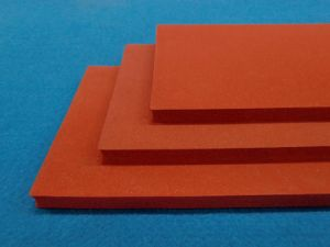 Close Cell Silicone Sponge Rubber Sheet, Silicone Foam Rubber Sheet with Impression Fabric Surface pictures & photos
