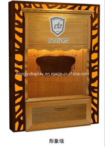 Display Rack and Slatwall with Wooden Veneer, Image Wall pictures & photos