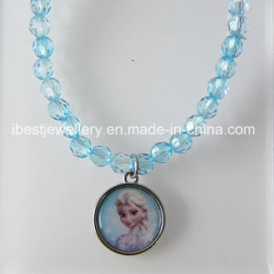 Frozen Jewelry -Plastic Beaded Pendant Bracelet