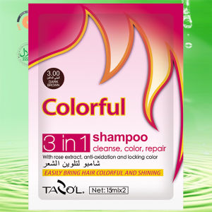 15ml*2 Tazo′l Dark Brown Hair Color Shampoo pictures & photos