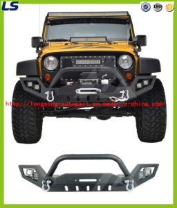 07-16 for Jeep Wrangler Jk Lp3 Full Width LED Power Steel Iron Front Bumper
