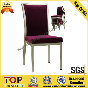 Classy Aluminum Imitated Wood Dining Chair pictures & photos