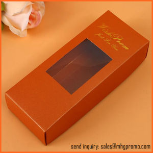 Foldable Paper Gift Box with Clear PVC Window pictures & photos