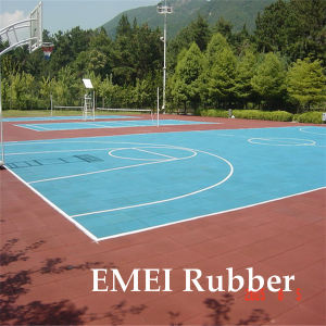 Hard-Wearing Standard Basketball Court Made From 100% Rubber Granules pictures & photos