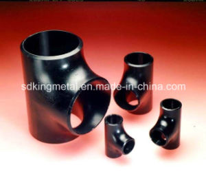 Seamless Butt Welding Carbon Steel Std Tee Black Painted pictures & photos