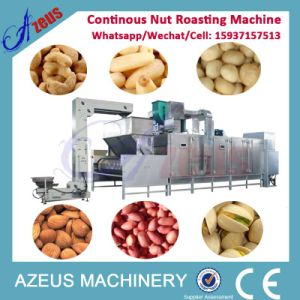 500kg/H SUS Continous Nuts Roasting Machine with Built-in Cooler