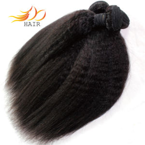 8A Top Quality Brazilian Virgin Hair Kinky Straight Hair Extension pictures & photos
