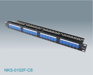 CAT6 UTP Patch Panel with Cover (NKS-0102F-C6)