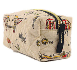 New Arrival Hot Sale Custom Western Design Cosmetic Bag Quilting Seam Cosmetic Bag pictures & photos