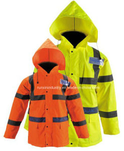 High Visibility Reflective Rain Jacket Yg729 pictures & photos