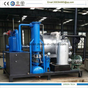 Small Plastic Pyrolysis Plant Gettting Oil