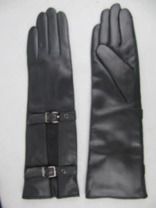 Lady Fashion Leather Gloves (JYG-23008) pictures & photos