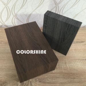 Black Facy Wooden Like Jewellery Paper Packing Gift Box