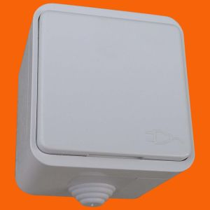 IP44 Europe Surface Mounted Double Cover Wall Power Socket (S3510) pictures & photos