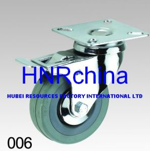Grey Rubber Wheel Thread Stem Top Industrial Caster pictures & photos