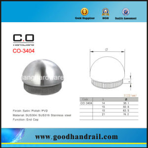 Stainless Steel End Cap for Handrail (CO-3404) pictures & photos