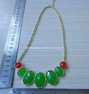 Fashion Resin Stone Necklace (XJW12912) pictures & photos