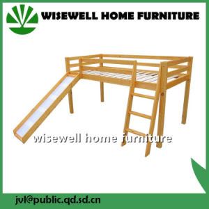 China Solid Pine Wood Single MID Sleeper Bed with Slide - China ... 3800f01b0