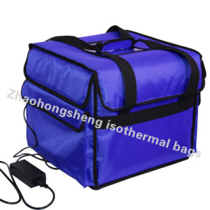 Heated 12v Thermal Insulated Pizza Food Delivery Backpack Cooler Bags Box