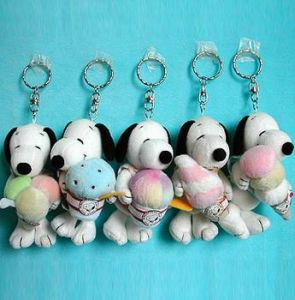 Key Chain with Stuffed Snoopy